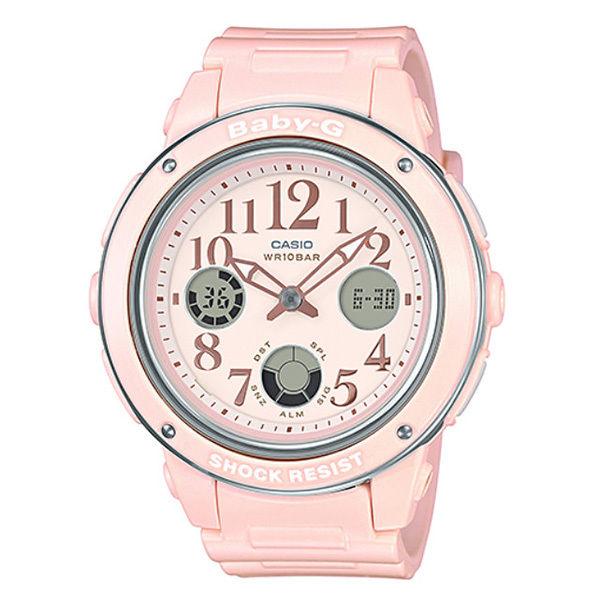 カシオ CASIO ベビーG Baby-G ビッグフェイス アナデジ クオーツ レディース クロノ 腕時計 BGA-150EF-4B ピンク