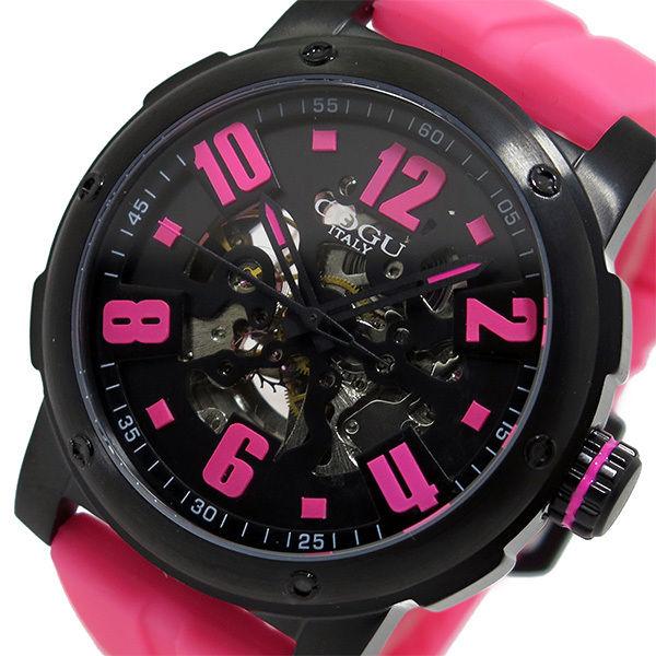 コグ COGU 自動巻き メンズ 腕時計 3SKU-PKB ピンク/ブラック