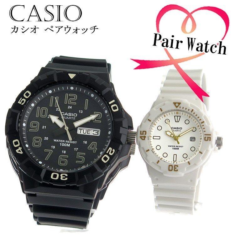 【ペアウォッチ】 カシオ CASIO クオーツ チープカシオ 腕時計 MRW-210H-1A LRW200H-7E2