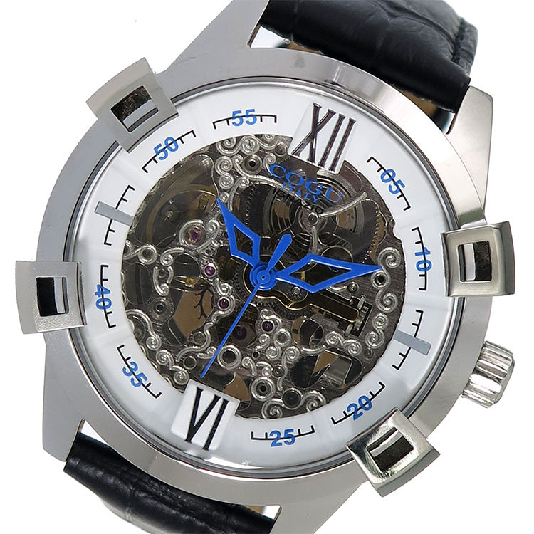 コグ COGU 自動巻き メンズ 腕時計 SKN2-WH ホワイト