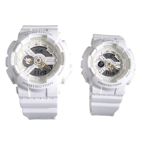 【ペアウォッチ】 カシオ ラバーズコレクション Gショック ベビーG 腕時計 ホワイト LOV-17A-7AJR 国内正規