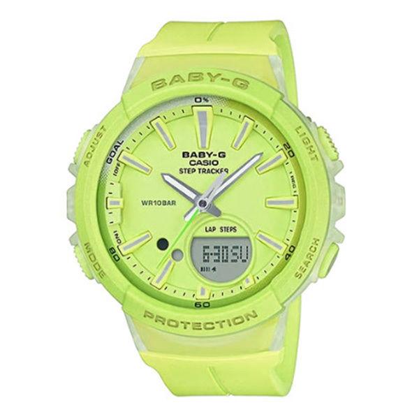 カシオ CASIO ベビーG Baby-G for running STEP TRACKER アナデジ クオーツ レディース クロノ 腕時計 BGS-100-9A ライトグリーン