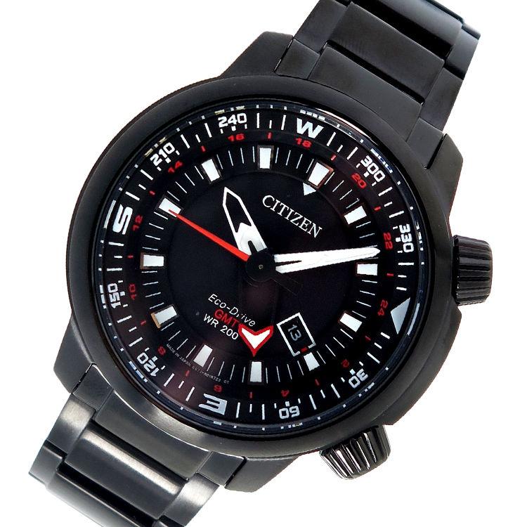 シチズン CITIZEN エコ・ドライブ クオーツ メンズ 腕時計 BJ7086-57E ブラック