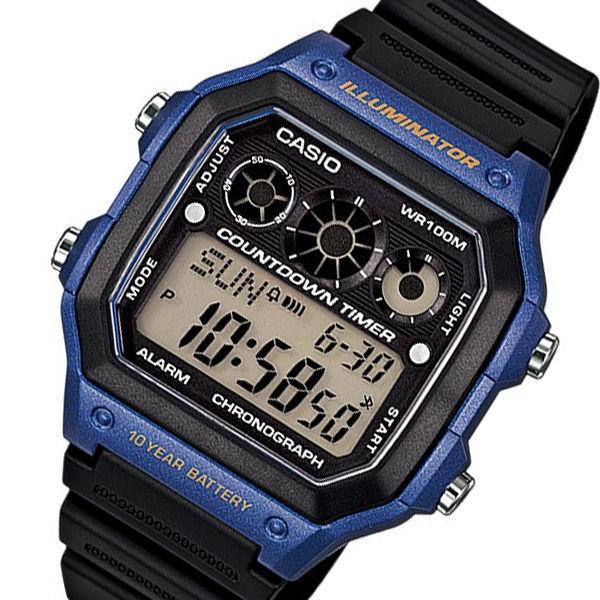 カシオ CASIO ベーシック デジタル メンズ 腕時計 AE-1300WH-2A ブラック
