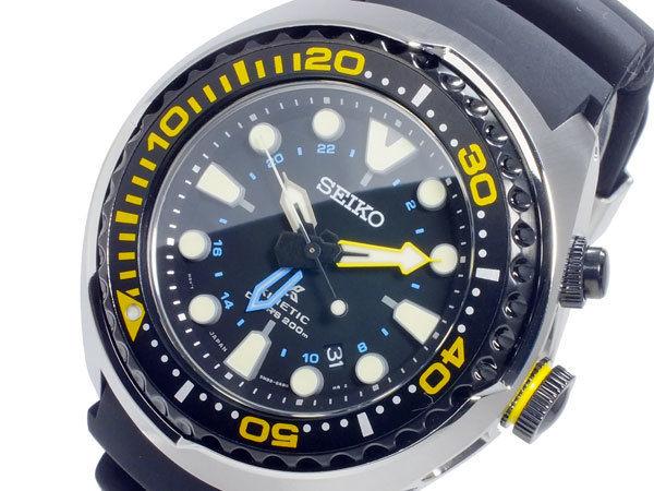 セイコー SEIKO プロスペックス PROSPEX キネティック クオーツ メンズ GMT 腕時計 SUN021P1