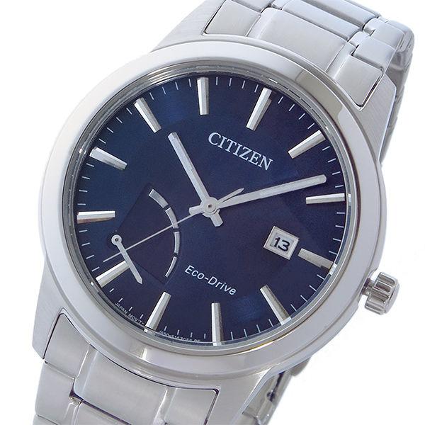 シチズン CITIZEN エコドライブ ソーラー クオーツ メンズ 腕時計 AW7010-54L ネイビー