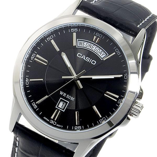 【希少逆輸入モデル】 カシオ CASIO クオーツ メンズ 腕時計 MTP-1381L-1AVDF ブラック