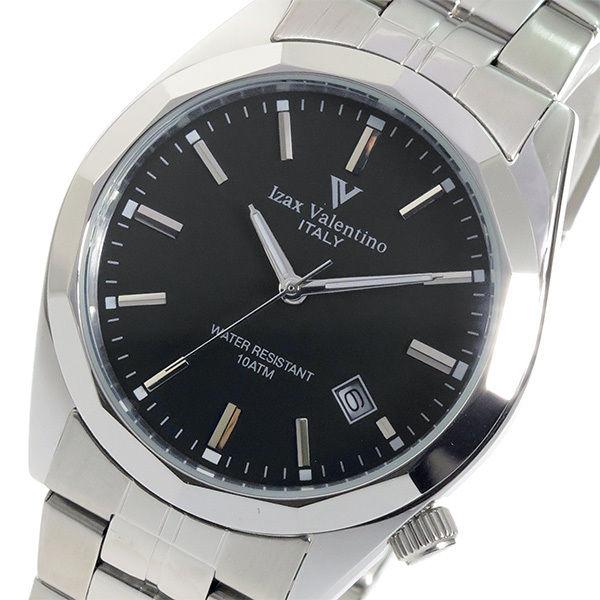 アイザック バレンチノ クオーツ メンズ 腕時計 IVG-560-1 ブラック