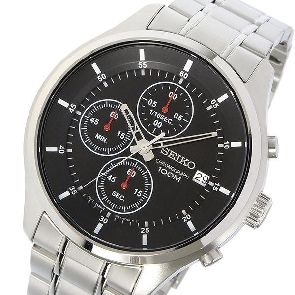 セイコー SEIKO クロノ クオーツ メンズ 腕時計 SKS539P1 ブラック