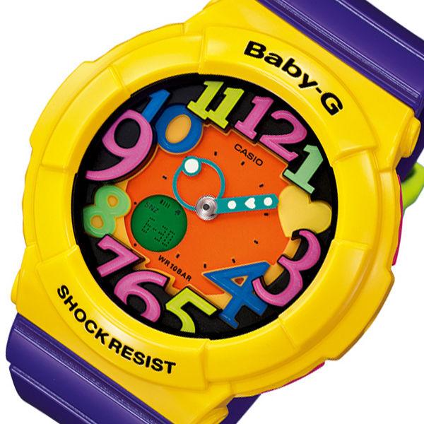 カシオ ベビーG クレイジーネオンシリーズ レディース 腕時計 BGA-131-9B パープル