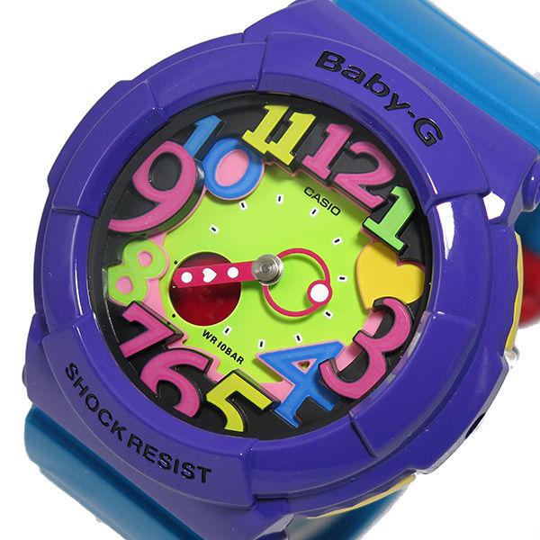 カシオ ベビーG クレイジーネオンシリーズ レディース 腕時計 BGA-131-6B マルチカラー