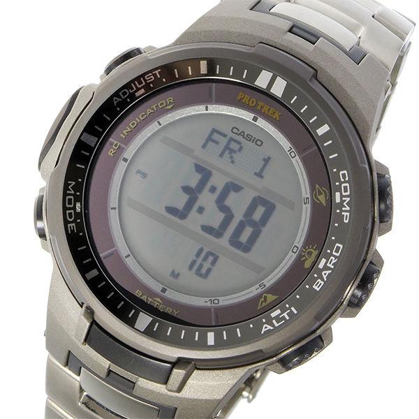 カシオ CASIO プロトレック PRO TREK ソーラー クオーツ メンズ 腕時計 PRW-3000T-7 シルバー