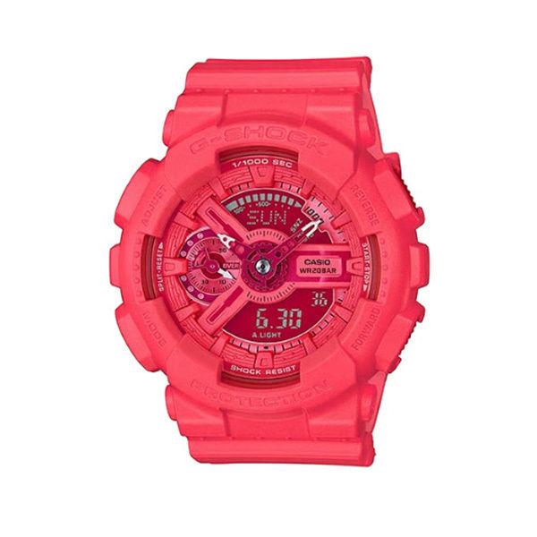 カシオ CASIO Gショック G-SHOCK エスシリーズ アナデジ クオーツ メンズ クロノ 腕時計 GMA-S110VC-4A レッド