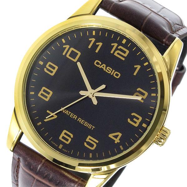 カシオ CASIO ベーシック クオーツ メンズ 腕時計 MTP-V001GL-1B ブラック
