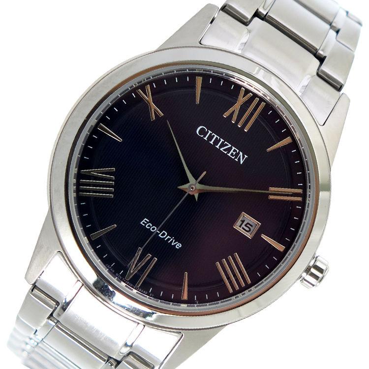 シチズン CITIZEN エコ・ドライブ クオーツ メンズ 腕時計 AW1231-58L ネイビー