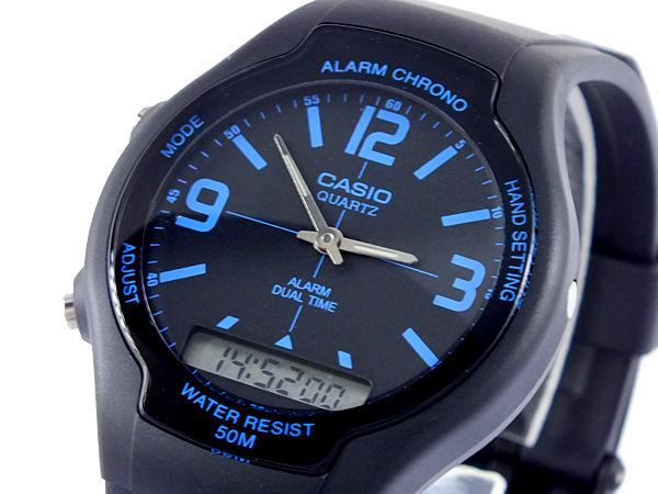 カシオ CASIO スタンダード アナデジ メンズ 腕時計 AW-90H-2B