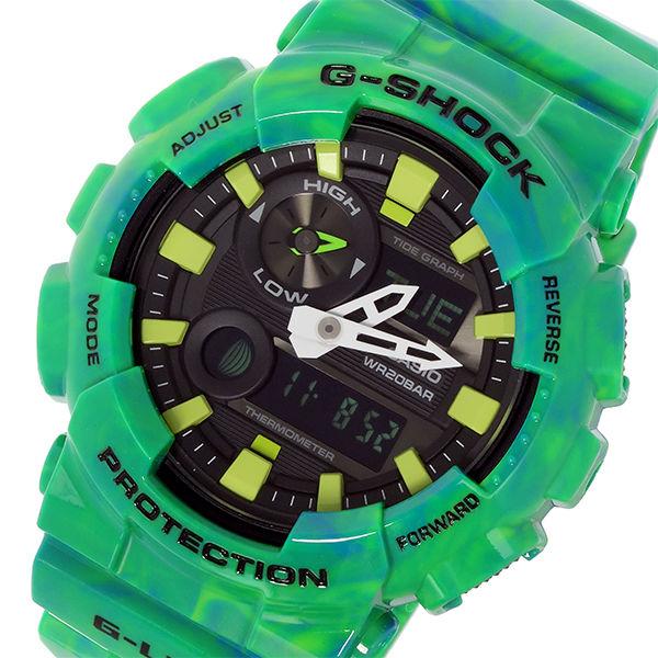 カシオ CASIO Gショック G-SHOCK Gライド G-LIDE メンズ 腕時計 GAX-100MB-3A ブラック グリーンマーブル