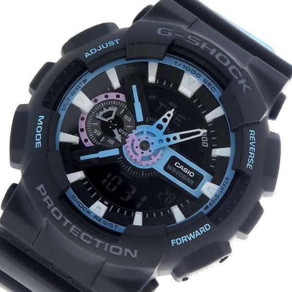 カシオ CASIO Gショック G-SHOCK クオーツ メンズ 腕時計 GA-110PC-1A ブラック