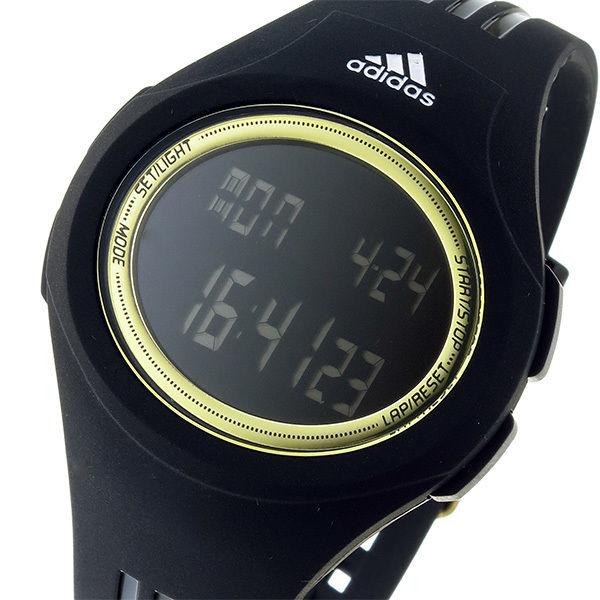 アディダス ADIDAS ウラハ URAHA デジタル クオーツ ユニセックス 腕時計 ADP3158 ブラック/ゴールド