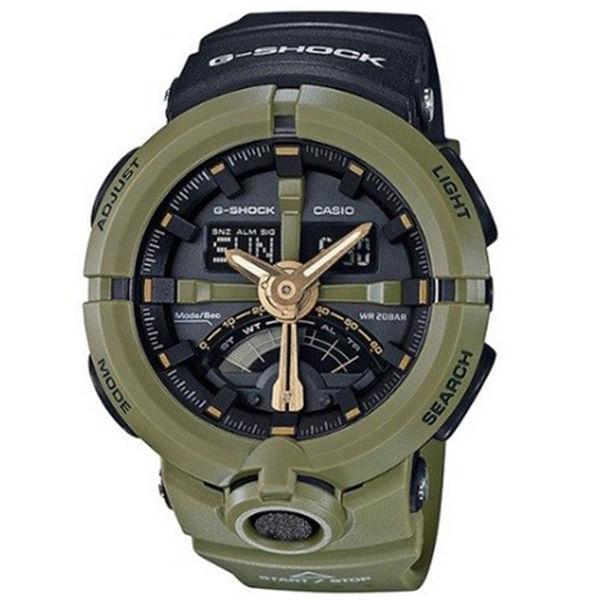カシオ CASIO Gショック G-SHOCK パンチングパターンシリーズ メンズ 腕時計 GA-500P-3A ブラック/カーキ