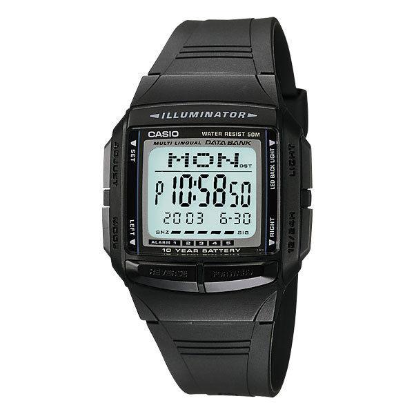 カシオ CASIO データバンク DATA BANK メンズ 腕時計 DB36-1A ブラック