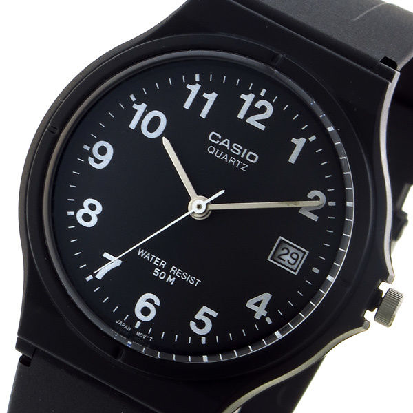 カシオ CASIO スタンダード クオーツ ユニセックス 腕時計 MW-59-1BV ブラック