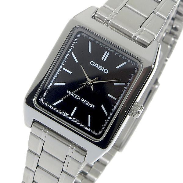 カシオ CASIO クオーツ レディース 腕時計 LTP-V007D-1E ブラック