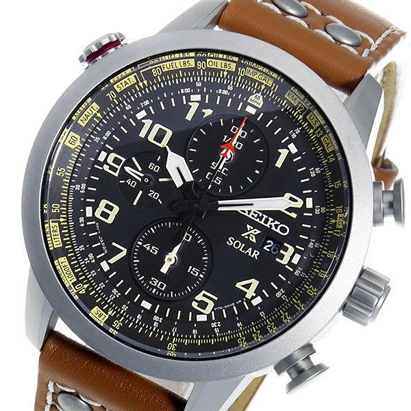 セイコー プロスペックス ソーラー クオーツ メンズ 腕時計 SSC421P1 ブラック