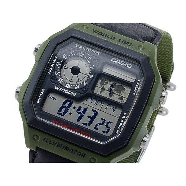 カシオ CASIO クオーツ メンズ デジタル 腕時計 AE-1200WHB-3B