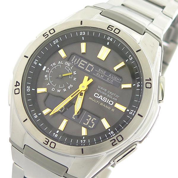 カシオ CASIO ウェーブセプター クオーツ メンズ 腕時計 WVA-M650D-1A2 ブラック/シルバー