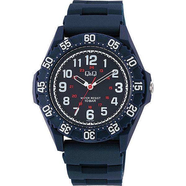シチズン CITIZEN キューアンドキュー Q&Q 10気圧防水 メンズ 腕時計 VR80-002 ブルー