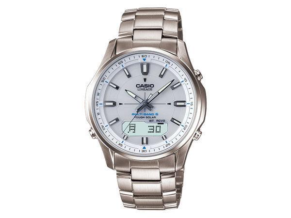 カシオ CASIO リニエージ チタン 電波タフソーラー アナデジ メンズ 腕時計 LCW-M100TD-7AJF
