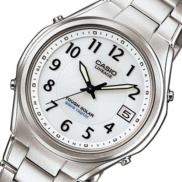 カシオ リニエージ 電波 ソーラー メンズ 腕時計 LIW-120DEJ-7A2JF ホワイト 国内正規
