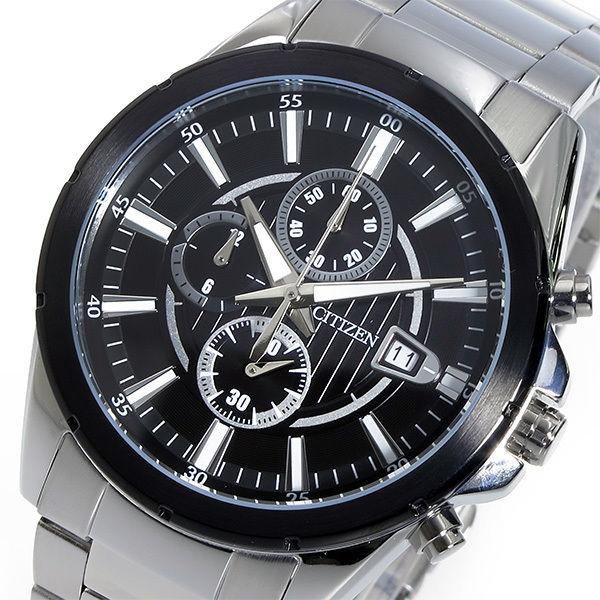 シチズン CITIZEN クロノ クオーツ メンズ 腕時計 AN3561-59E ブラック