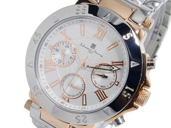 サルバトーレマーラ SALVATORE MARRA クオーツ メンズ 腕時計 SM14118-PGWH