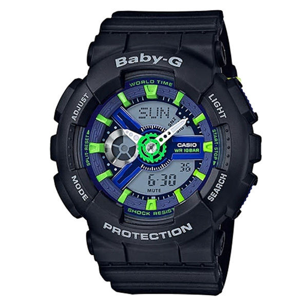 カシオ CASIO ベビーG Baby-G パンチングパターン アナデジ クオーツ レディース クロノ 腕時計 BA-110PP-1A ネイビー