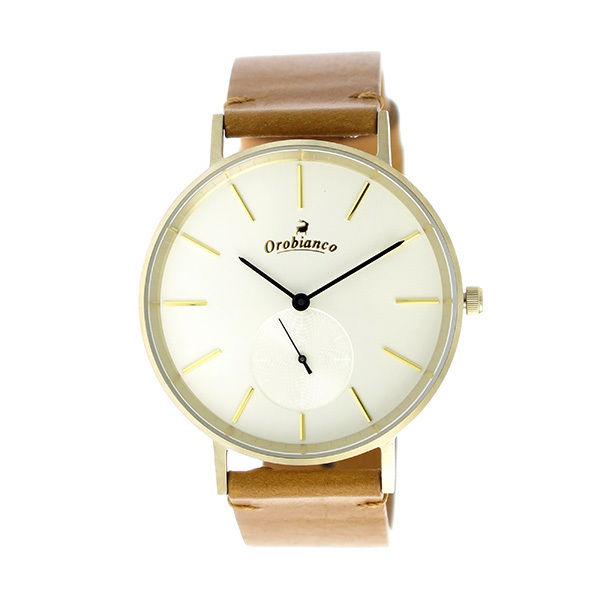 オロビアンコ OROBIANCO クオーツ ユニセックス 腕時計 OR-0061-39LGDOFWH ホワイト/イエローゴールド