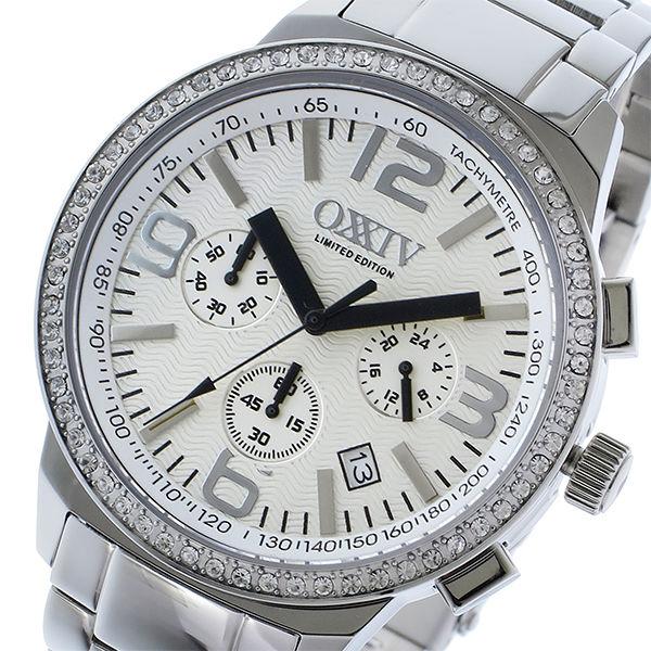 オクシブ OXXIV クロノ クオーツ メンズ 腕時計 OX24-WH ホワイト/シルバー