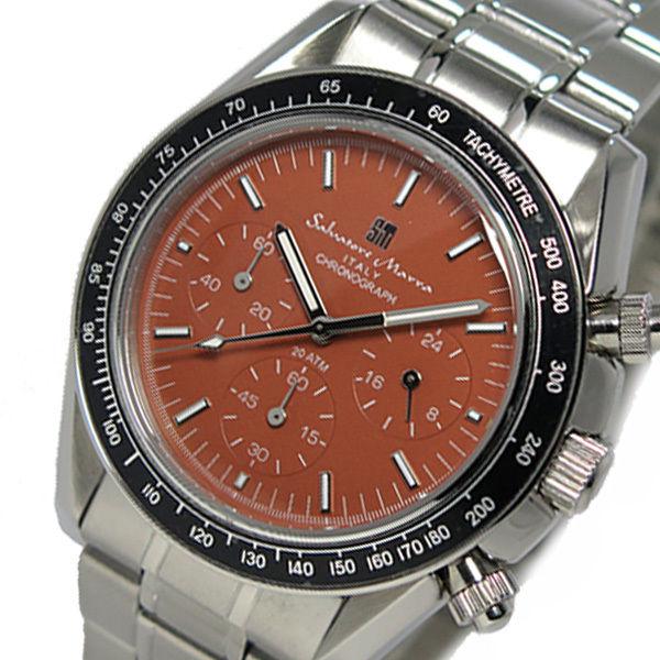 サルバトーレ マーラ クロノ クオーツ メンズ 腕時計 SM15111-SSBR ブラウン