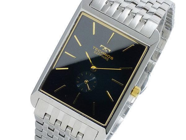 テクノス TECHNOS クオーツ メンズ 腕時計 T9268SH ブラック