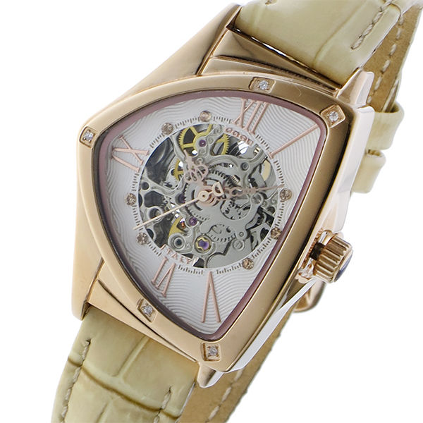 コグ COGU 自動巻き レディース 腕時計 BS01T-RG ホワイト/ピンクゴールド