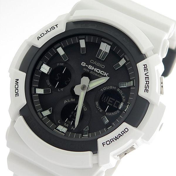 カシオ CASIO Gショック G-SHOCK 電波ソーラー クオーツ メンズ 腕時計 GAS-100B-7A ブラック/ホワイト