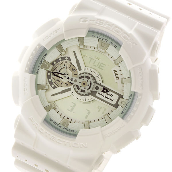 カシオ CASIO Gショック G-SHOCK パンチングパターンシリーズ メンズ 腕時計 GA-110LP-7A ホワイト