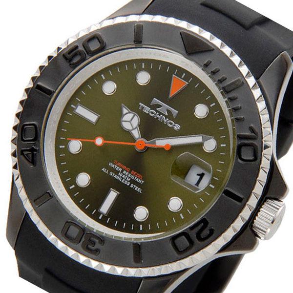テクノス TECHNOS ダイバー クオーツ メンズ 腕時計 T4418BM グリーン