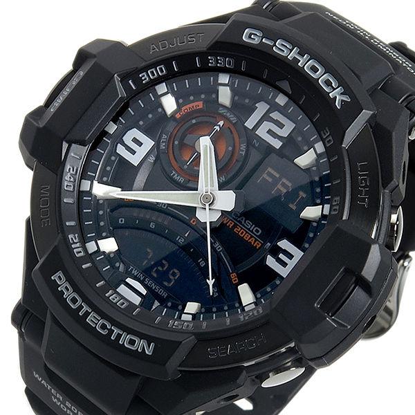 カシオ Gショック スカイコックピット クオーツ メンズ 腕時計 GA-1000-1A ブラック