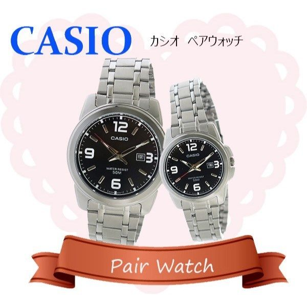 【ペアウォッチ】 カシオ CASIO チープカシオ ユニセックス 腕時計 MTP-1314D-1A LTP-1314D-1A
