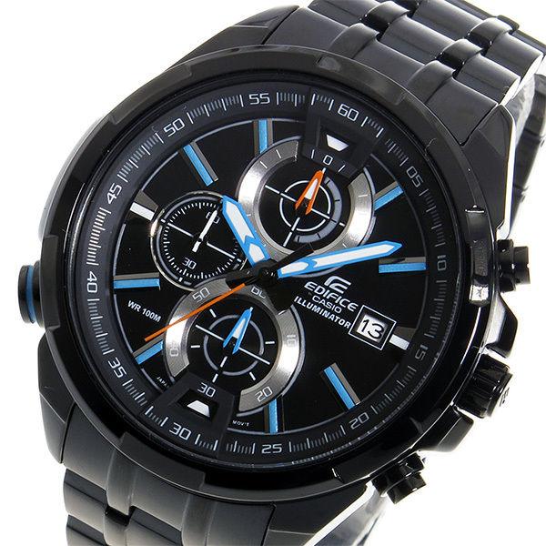 カシオ エディフィス クロノ クオーツ メンズ 腕時計 EFR-536BK-1A2V ブラック