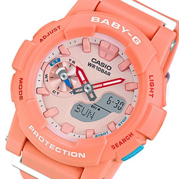 カシオ ベビーG フォーランニング クオーツ レディース 腕時計 BGA-185-4A オレンジ