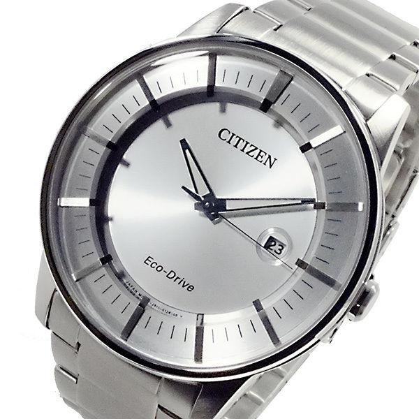 シチズン CITIZEN エコドライブ ECO DRIVE メンズ 腕時計 AW1260-50A シルバー