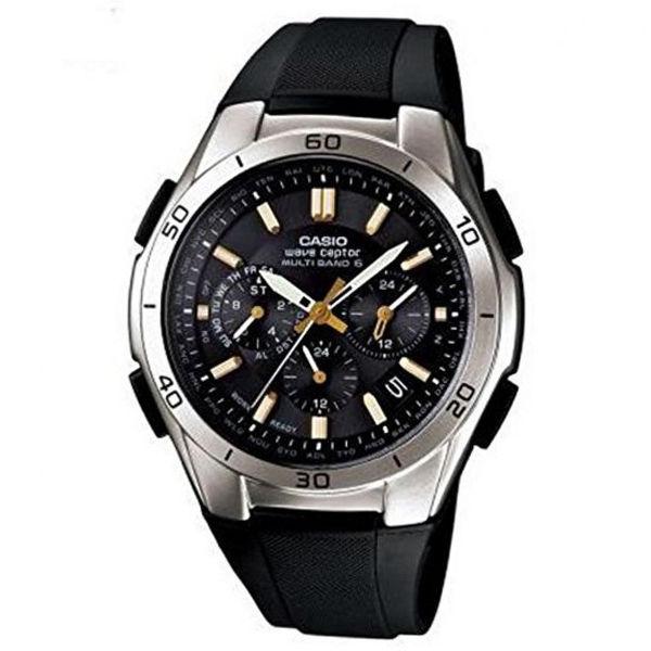 カシオ CASIO ウェーブセプター クロノ 電波 ソーラー メンズ 腕時計 WVQ-M410-1A2JF ブラック